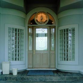 Glass Block Entryway