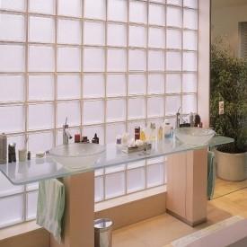 Glass block partition