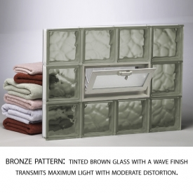 Bronze Glass Block Pattern