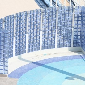 Commercial pool shower